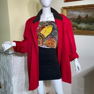 Vintage '90's Nygaard Collection Red Wool Blazer